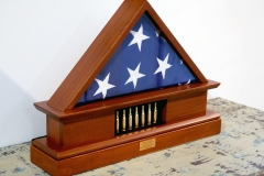 memorial flag display case