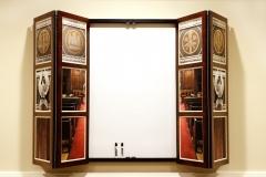 Whiteboard screen, open
