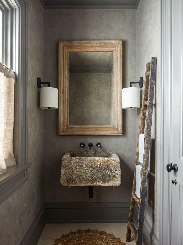 Custom mirror in barn wood frame