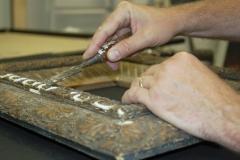 Restoring an antique frame