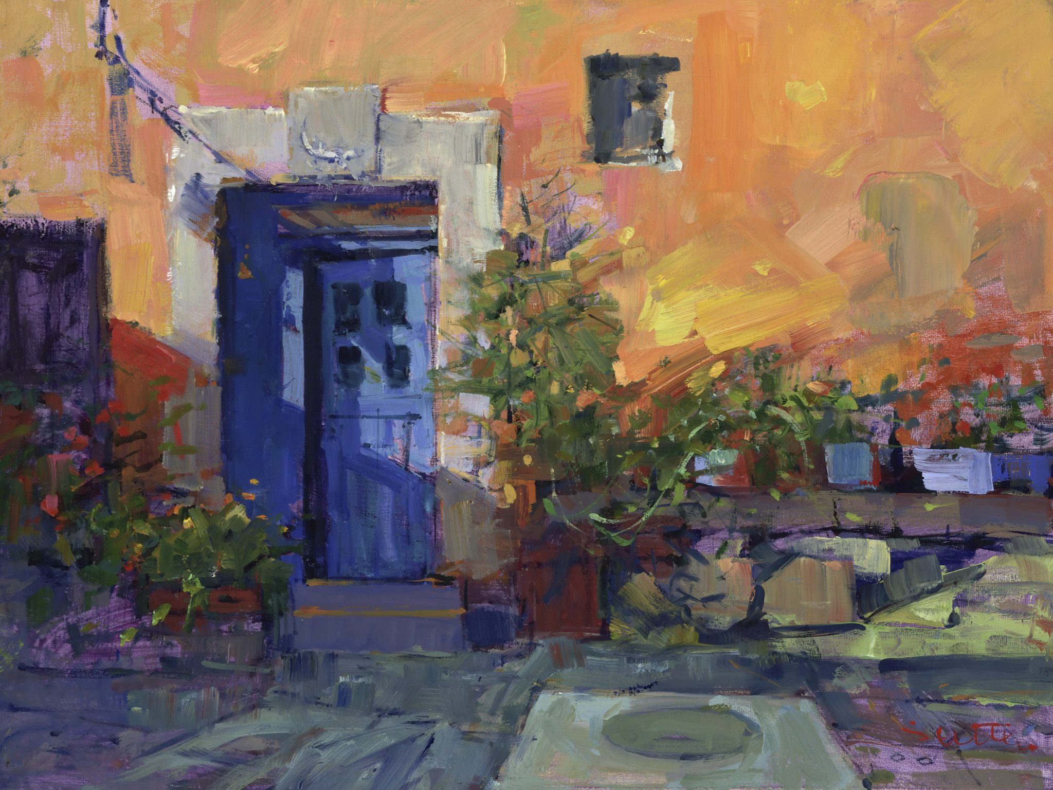 Bill Suttles The Blue Door oil on panel 12 x 16 in. & Bill Suttles   The District Gallery u0026 Framery pezcame.com