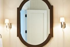 Oval custom mirror with joined frame