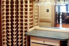 Wine cellar mirror